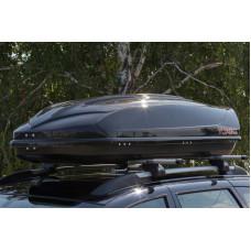 Автобокс YUAGO EURO LUX, 460л, 1860х860х460, черный глянцевый